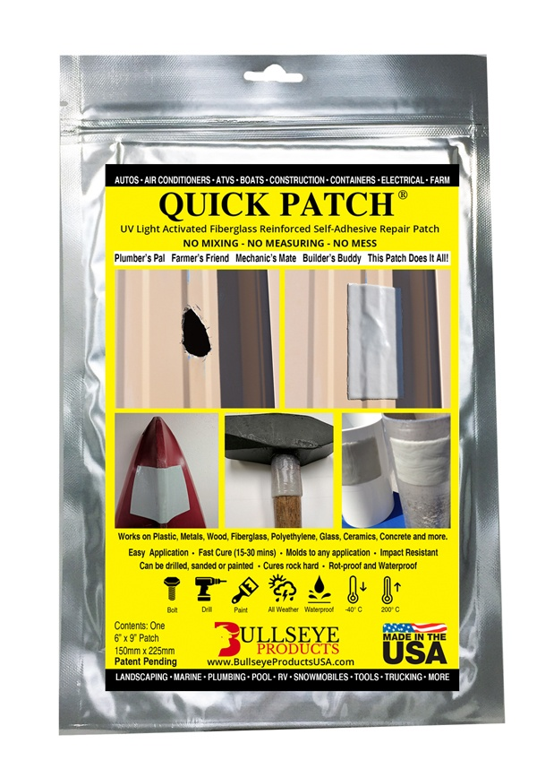 Quick Patch 6 x9 Inches- 12 Pack (12 Patches)
